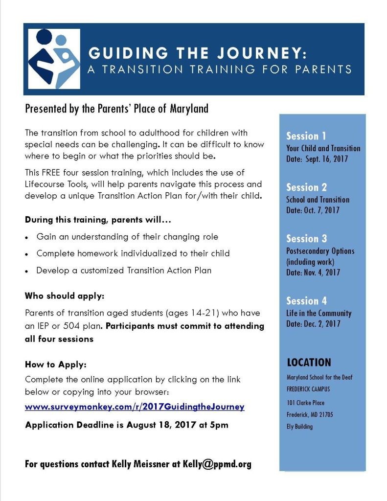transition workshop flyer