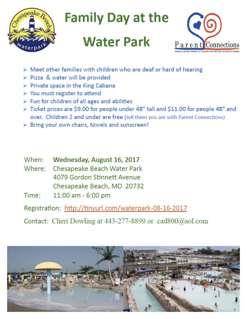 flyer about water park trip