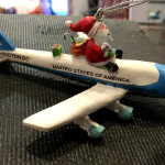 Fantasy Flight 2014 photos -- santa on airplane ornament