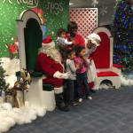Fantasy Flight 2014 photos -- children visit with Santa