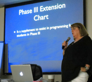 Dr. Christine Rloman-Lantzy leading Summer Institute on CVI Phase III